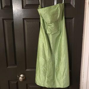 Watters & Watters green mid length dress